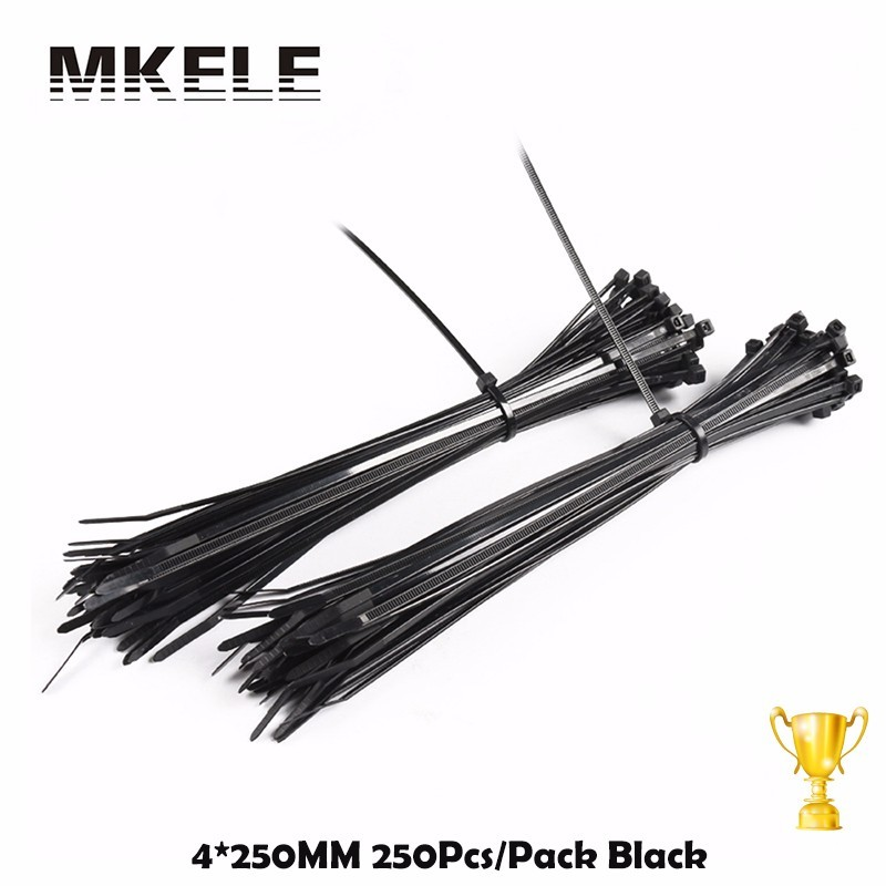 High Quality 4*250mm Self-Locking Nylon Cable Plastic Ties