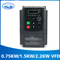 Free Shipping 0.75 kw/1.5kw /2.2kw 220V/110V AC Frequency Inverter Single Phase Input 3 Phase Output Ac Drives For CNC Motor