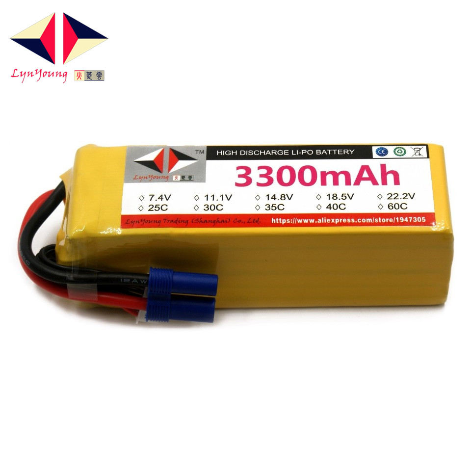 3300mAh 22.2V 60C 6S LYNYOUNG lipo battery for RC AKKU Helicopter 6 Axis Quadrotor Drone Car Airplane Rechargeable Boat Glider mos rc airplane lipo battery 3s 11 1v 5200mah 40c for quadrotor rc boat rc car