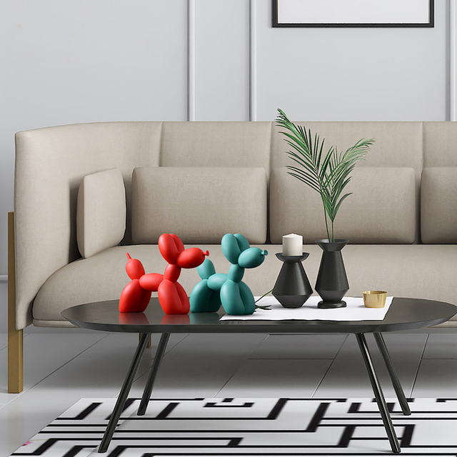 Nordic Creative Balloon Dog Home Decorations Living Room Bedroom TV Cabinet Decoration Cute Resin Animal Desktop Ornaments Gift 5