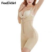 FeelinGirl Full Body Shaper Modeling Belt Waist Trainer Butt Lifter Thigh Reducer Panties Tummy Control Push Up Shapewear F
