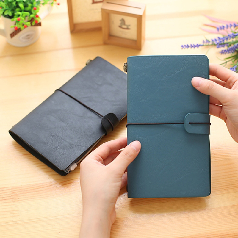 Business PU Leather Multifunctional Travelers Notebook Korean Creative Diary Journal Bandage Planner Personalized Gift Supplies genuine leather notebook travelers journal agenda handmade planner notebooks diary caderno sketchbook school supplies