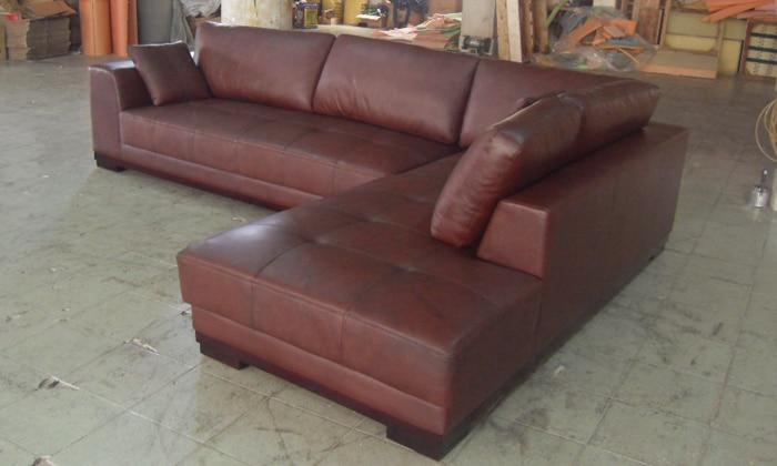 Stūra dīvāns ar ādas modernu dīvānu komplektu, 2013. gada - Mēbeles - Foto 5