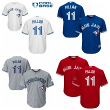 74e80cbd210 MLB Men s Toronto Blue Jays Kevin Pillar Baseball Flex base cool base 13  colors Jersey(