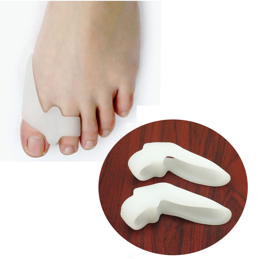 2Pcs Silicone Gel Foot Fingers Toe Separator Thumb Valgus Protector Bunion Adjuster Hallux Valgus Guard Feet Care Massager C142
