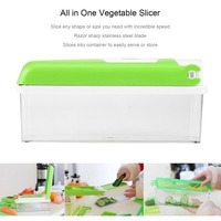 12Pcs Set Slicer All In One Mutil Use Vegetable Slicer Food Processors Set With Storage Container