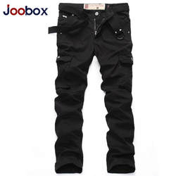 Joobox бренд Демисезонный хлопок Для мужчин Повседневное прямые Брюки для девочек новый мульти-карман тонкий Для мужчин Брюки карго дышащие
