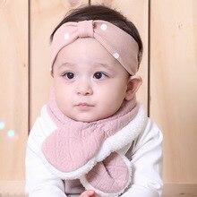 New Unisex Baby Scarf Boy Girl Kids Toddler Infant Childrens Winter Bibs Warm Neck with Velvet Thickening Muffle