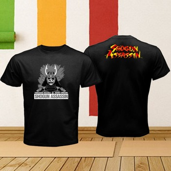 Shogun Assassin japonés Samurai enmascarado, Logo Assassin, camiseta Retro negra para hombre, gran oferta 2020, camisetas, camisetas de verano