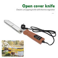 Elektryczny miód Uncapping nóż z regulatorem temperatury Regulator temperatury ekstraktor skrobak Cutter Bee sprzęt pszczelarski narzędzia