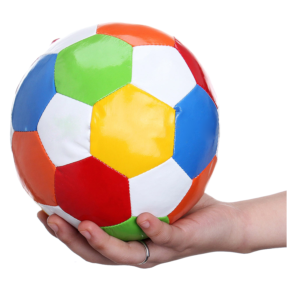 LCLL-1pc 14.4cm Soft Indoor PVC Surface Football Soccer Play Ball Toy image