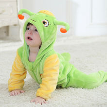 2016 Spring New Style Kawaii Cartoon Baby suits Newborn Flannel Animal Rompers 0-3 Years Kid Home Wear Soft Cute Jumpsuits