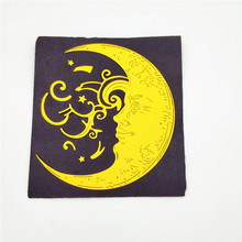 AZSG Curved moon Cutting Dies For DIY Scrapbooking Die Decoretive Embossing Stencial Decoative Cards Cutter