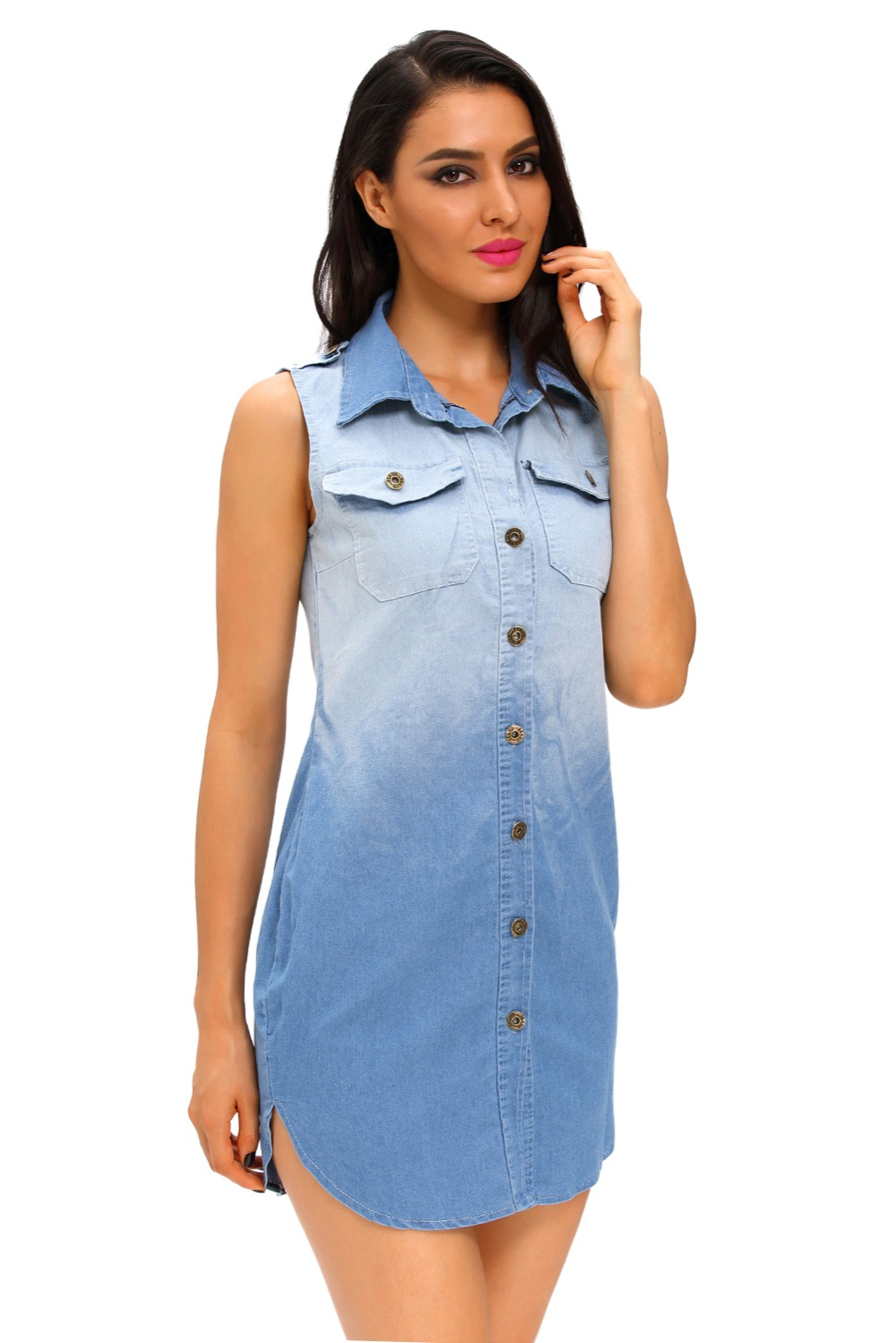 Online Get Cheap Sleeveless Denim Shirt -Aliexpress.com | Alibaba ...