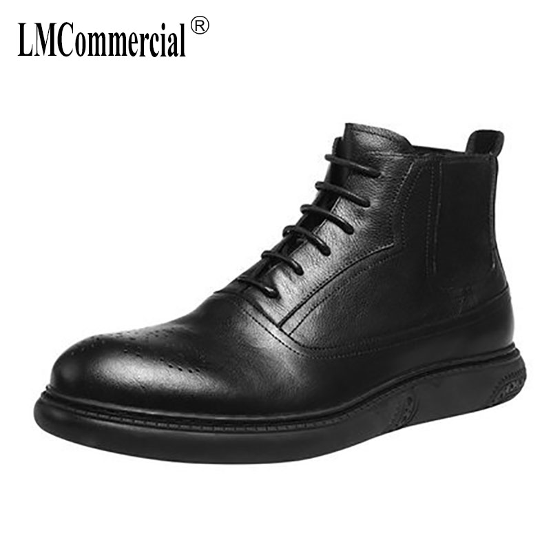 Winter N new autumn winter British retro men shoes all-match cowhide men's shoes Genuine leather casual boots men Martin boots 2017 new autumn winter british retro zipper leather shoes breathable sneaker fashion boots men casual shoes handmade