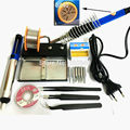 Thermostatic Electric Soldering iron 60W 220V Solder Station With Iron Stand Solder Wire tweezers Welding Repair Tool Kit