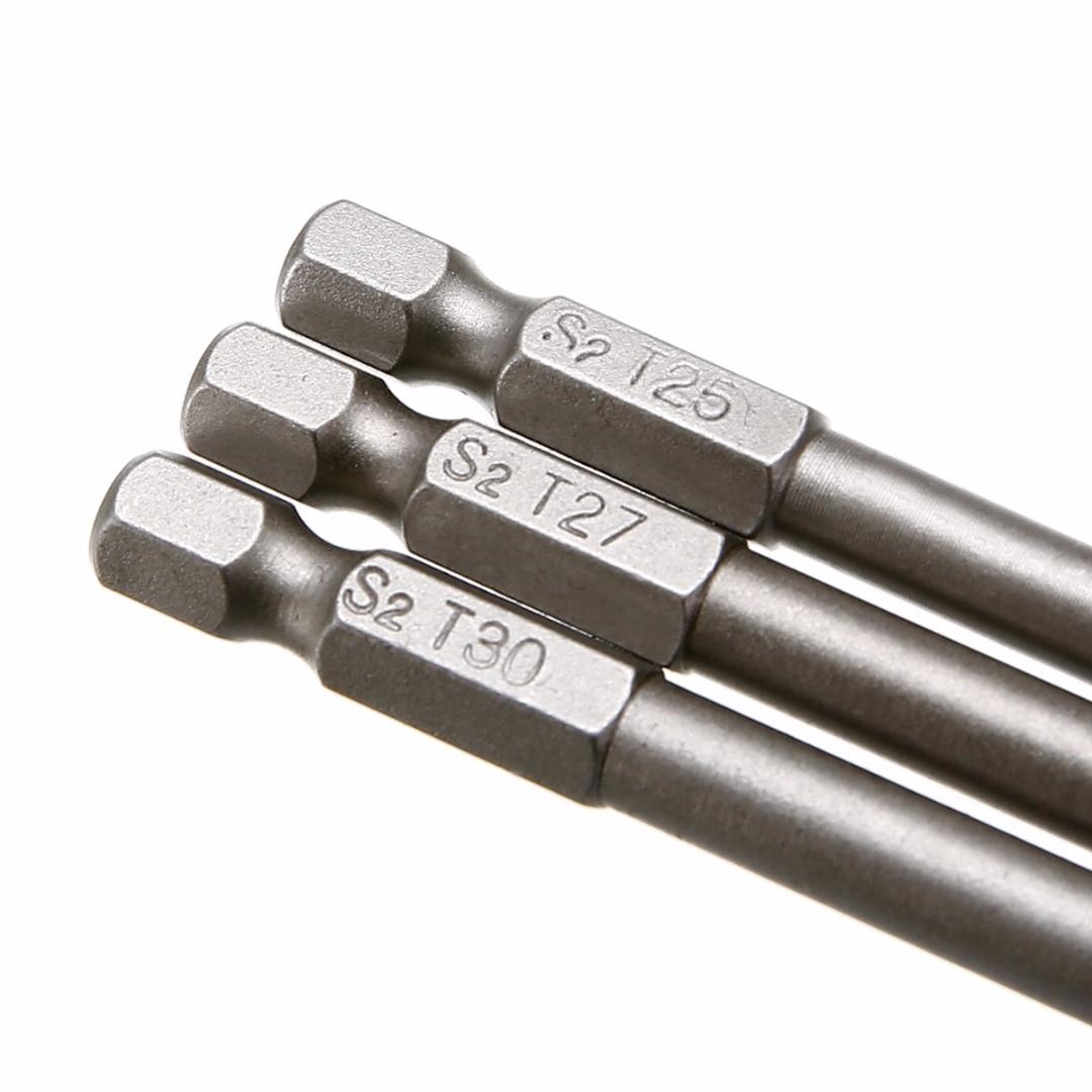8db-os mágneses Torx csavarhúzó-készlet, 150 mm hosszú acél - Kézi szerszámok - Fénykép 5