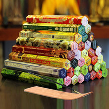 3/4/6/9/12Boxes tibetan Incense Stick With Plate Indian Incense Premium Multiple Flavor Mixed Package sandalwood incense S