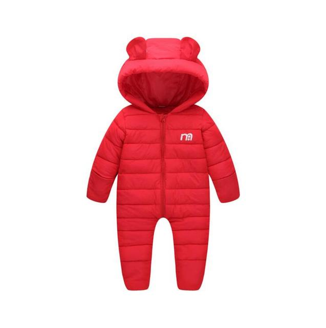 295e576f6b60 Russian winter boys snowsuit Warm Thick infant baby one-pieces romper  toddler overalls cotton padded snow suit hooded coveralls
