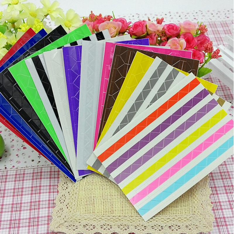 4 set of 408 pcs Colorful Corner Paper Stickers for Pictures Photo Albums Frame Home Decoration Scrapbooking