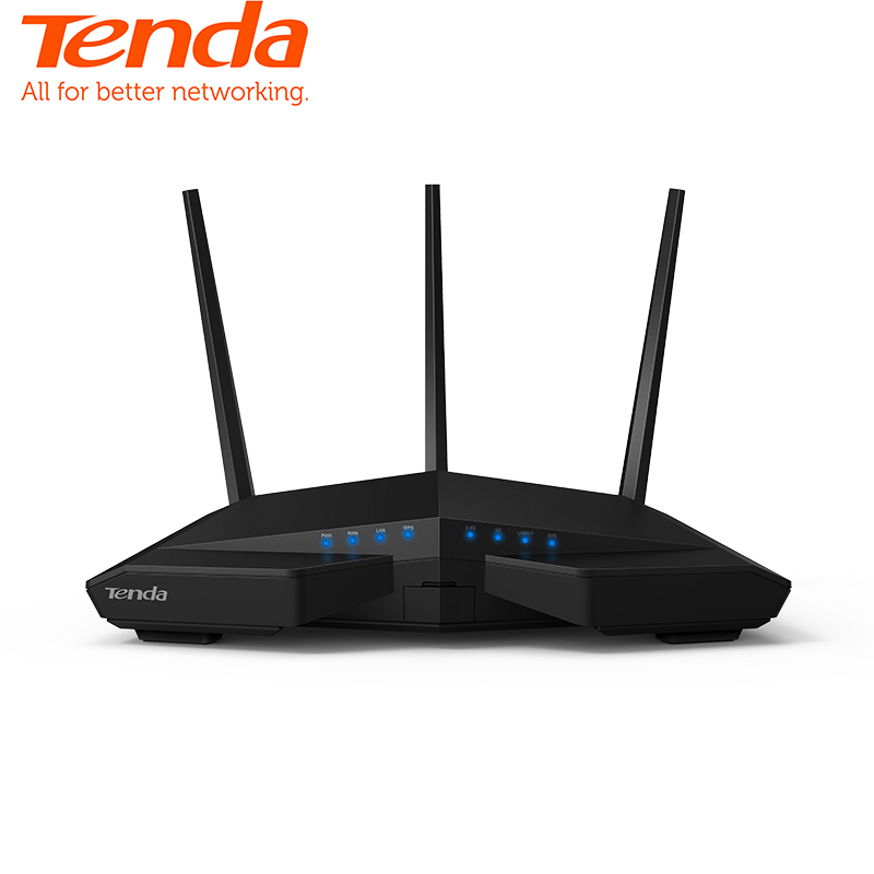 Routeur sans fil Gigabit AC1900M double bande Tenda AC18, USB3.0, 1 port WAN 4 ports LAN application de contrôle à distance anglais/européen Firmware