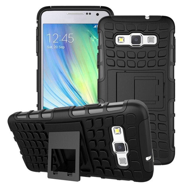 93ea5f23a0a Para Samsung Galaxy A3 A3000 A300F A3009 funda Heavy Duty Armor Shockproof  Hard Silicone para coque