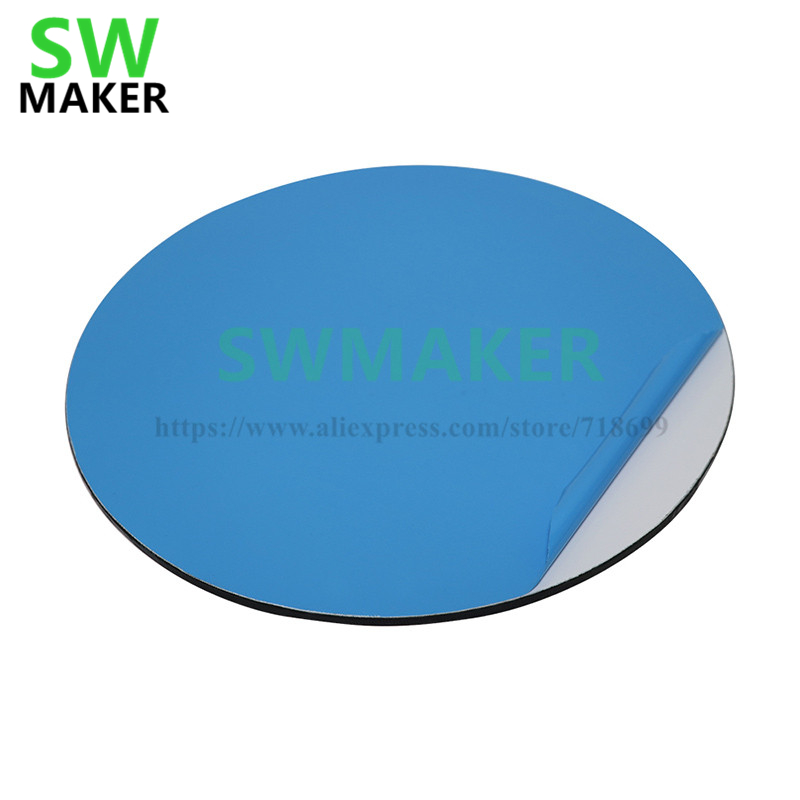 Glorious Round 200/240mm 400deg Upgrade Kossel 3d Printer Self-adhesive Build Surface Glass Plate Compatible Diy Delta Kossel Heated Bed An Enriches And Nutrient For The Liver And Kidney Computer & Office 3d Printer Parts & Accessories
