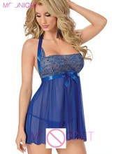 MOONIGHT Sexy Lingerie Plus Size Underwear Hot Women Halter Babydoll Chemise Sleepwear M XL XXL XXXL 5XL