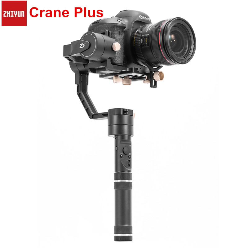 Zhiyun Crane Plus 3-Axis Handheld Gimbal Stabilizer POV Mode Gimbals For DSLRs Mirrorless Camera With Motion Memory new xiaomi mi consumer camera handheld gimbal 3 axis brushless gimbals stabilizer operation time 16 hours for mijia mini sports