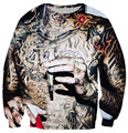 Harajuku cartoon 3d Wiz Khalifa Tattoos character sweatshirt jumper sweatshirt hoodies pullovers outerwear free shipping