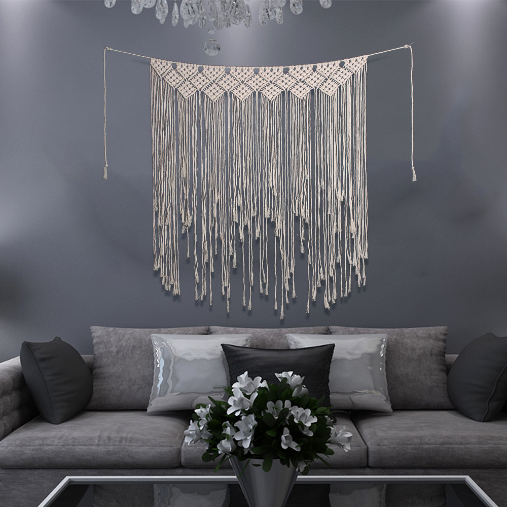 New Long Hanging Bohemian Macrame Woven Handmade Tapestry Knitting Wall Tapisserie Home Decoration Craft Wedding Home