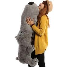 huge big head plush dog toy gray dog pillow big lying unlucky dog doll gift about 160cm