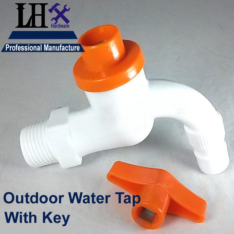 LHX CYP79 Outdoor or Bathroom Washing Machine Faucet Sink Single Handle Key Water Tap Wall Mixer