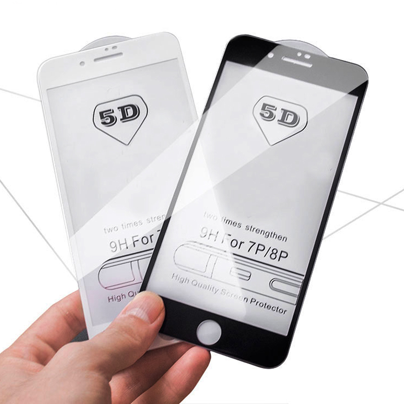 GVU 5D Full Cover Screen Protector For iPhone 6 6s 7 Tempered Glass For iPhone 8 7 6 6S X Glass Film-in Phone Screen Protectors from Cellphones & Telecommunications