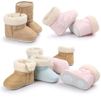 Cute Butterfly Knot Korean Version Three Color Baby Boots Fashion Winter Boots Baby Soft Bottom Boots