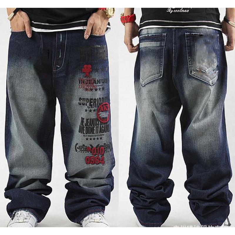 hip hop baggy paint jeans men jean harem pants Skateboard ...