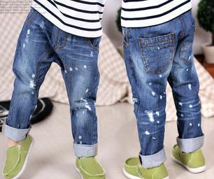 Бесплатная доставка новый 1-6years diy детей джинсы мальчиков девушки шаровары дети большой pp брюки марка
