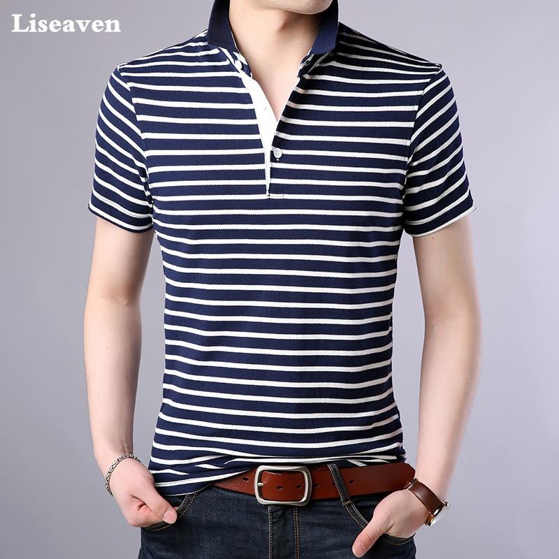 Liseaven Men's Short Sleeve Polos Shirt Men's Clothing Casual Shirts Cotton Camisa Tops&Tees