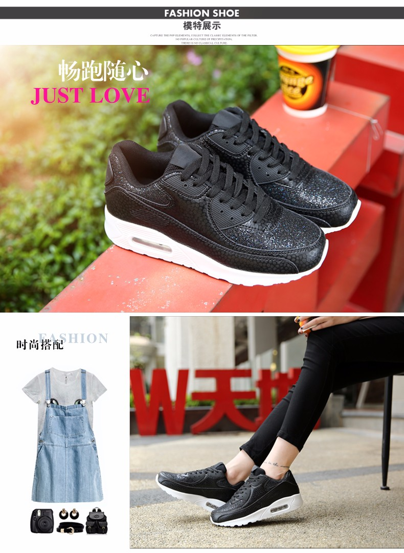 Fashion KUYUPP Wedges Women Trainers Breathable Sport Sequined Cloth Casual Shoes Outdoor Walking Shoes Zapatillas Mujer YD36 (9)
