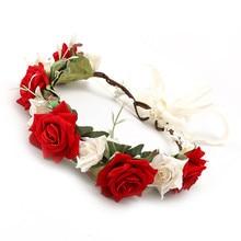 HIYONG Newest Wedding Crowns For Brides Girls Flower Hair Accessories Flower Hairband Wedding Party Hair Wreath Bridal Headdress все цены