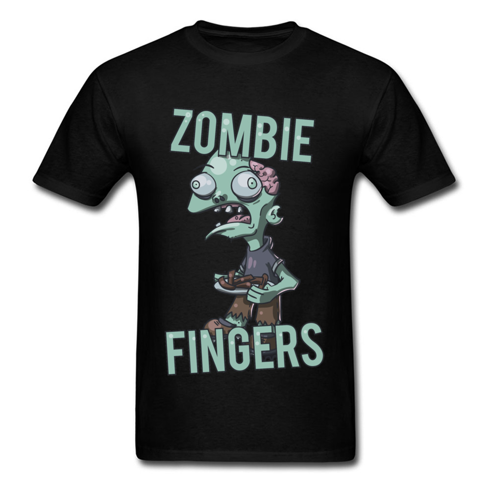 Brand New Cartoon T-shirt Zombie Fingers Print Scary Halloween Teens Gift T Shirt Store Custom Men Own Clothing image