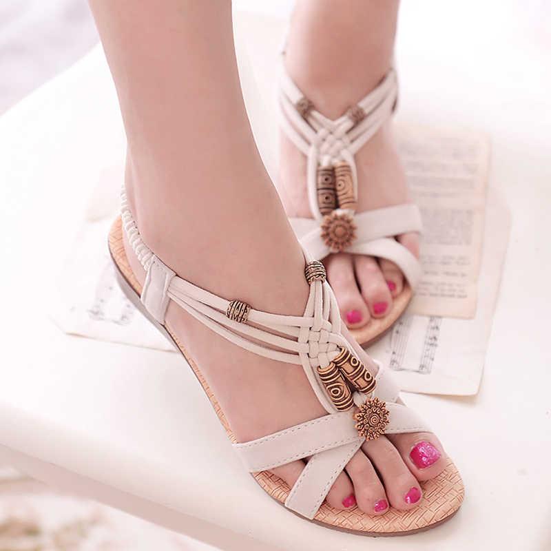 נשים סנדלי 2019 רומא סגנון גלדיאטור סנדלי עם טריזי נעלי נשי קיץ סנדלי עקבים Zapatos Mujer מקרית חוף נעליים