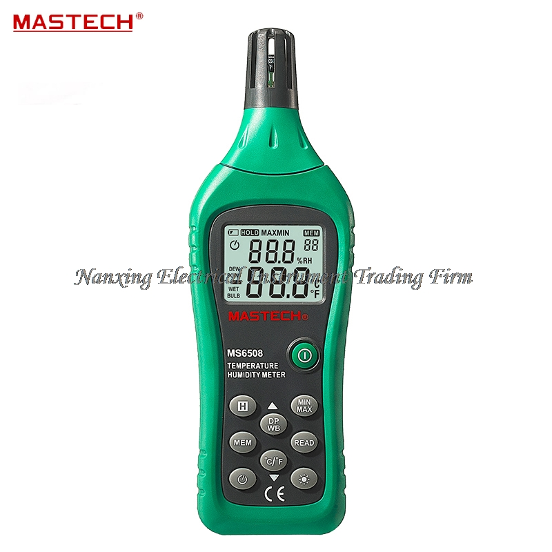 FAST ARRIVAL MASTECH MS6508 High PrecisionThermo-hygrometer Digital Temperature Humidity Moisture Meter Tester Thermometer mastech ms6514 dual channel digital thermometer temperature logger tester usb interface 1000 set data k j t e r s n thermocouple