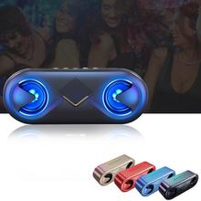 лучшая цена Portable Bluetooth Subwoofer Speaker Wireless Stereo TF Card Slot Outdoor Portable Mini Speaker for iPhone/iPad/Samsung/Laptops