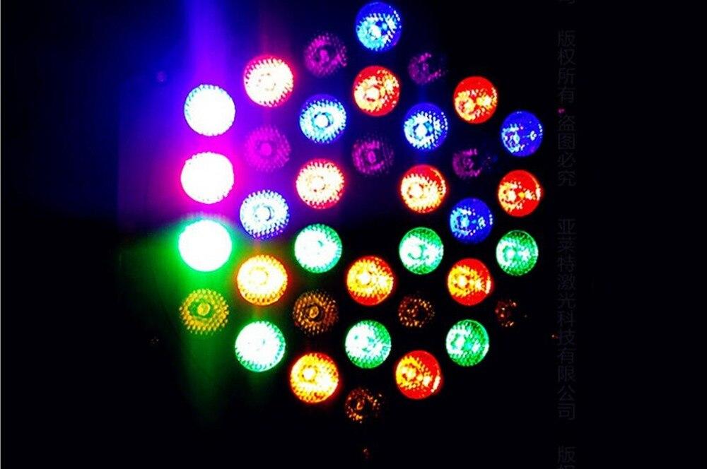 36 RGB LED Par Can Stage Light Disco DJ Bar Effect UP Lighting Sh dmx led par Club Party light Strobe AC110-240V  Fast Shipping dj portable 86 rgb led stage lights par party show dmx 512 lighting effect disco spotlight projector for wedding party bar club