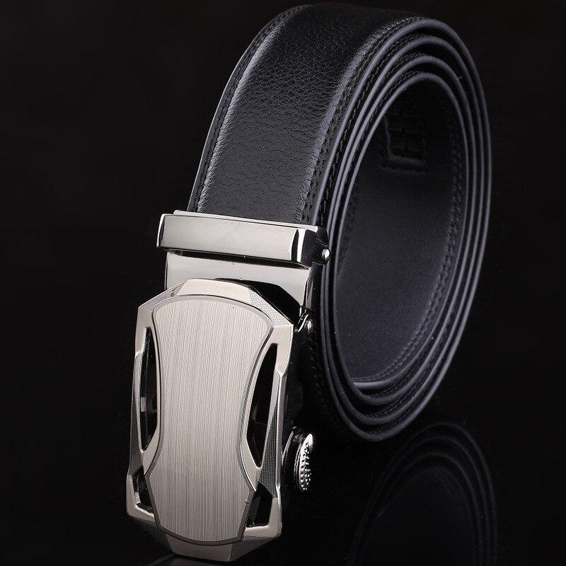 New Arrival Brand Designer Leather   Belts   For Business Men hot sale Fashion Men   Belt   Automatic Buckle
