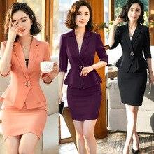 IZICFLY летняя одежда для женщин формальная форма дизайн Блейзер Комплект Леди Офис Элегантный бизнес 2 шт. юбка костюм размера плюс