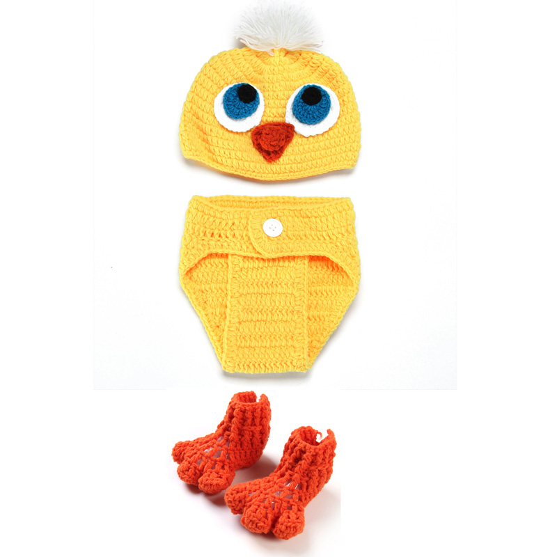 Hand crochet Infant Cute Crochet Outfits Knit Small Duck Newborn ...
