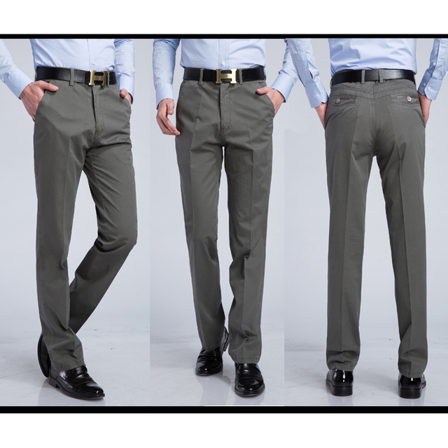 0f06d677aeb85 Plus Size 29-40 6 Colors Men s Summer Thin Breathable Cotton Gray Business  Casual Pants