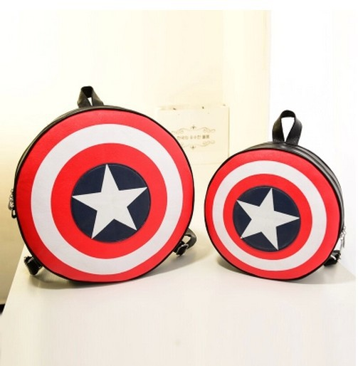 Fashion Women and Men Backpack Captain America Shield Backpack Unisex School Bags Backpacks for Teenage Girls and Boys